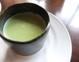 抹茶ラテ(HOT)¥100